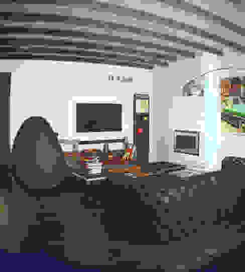 Квартира на Ярославском Гостиная в стиле лофт от Valeria Ganina Лофт