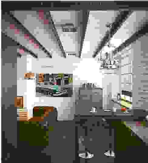 Industrial style living room by Valeria Ganina Industrial