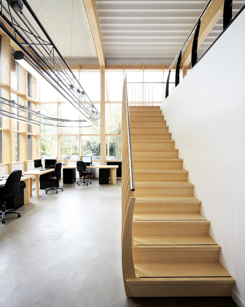 scandinavian  theo EeStairs | Stairs and balustrades, Bắc Âu Tre Green