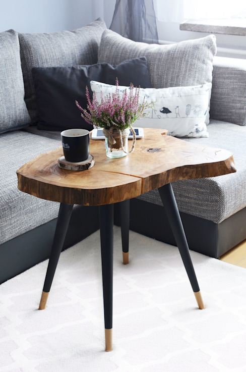 BIG STILL WOOD Coffee Table - Black D2 Studio Sala de estarBancadas e bandejas Madeira