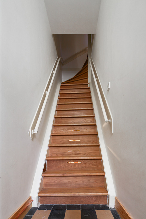 Leiden House Country style corridor, hallway& stairs by SAMF Arquitectos Country