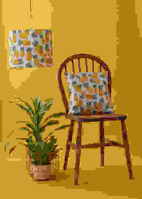 Piña cushion and lamp shade homify Tropikal Pamuklu Kırmızı