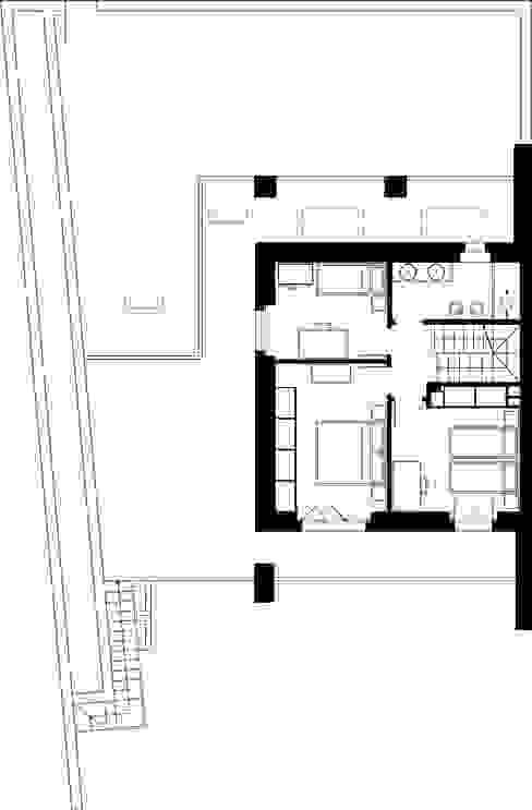 house r_p Federico Pisani Architetto Camera da letto moderna