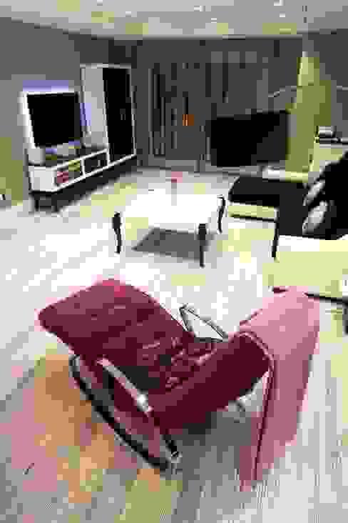 Salon Salones de estilo moderno de construcciones y reformas Viguera Moderno