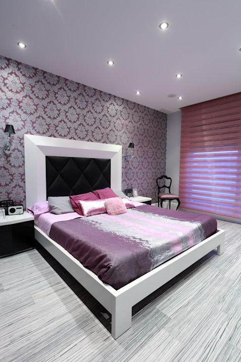 Dormitorio principal Dormitorios de estilo moderno de construcciones y reformas Viguera Moderno