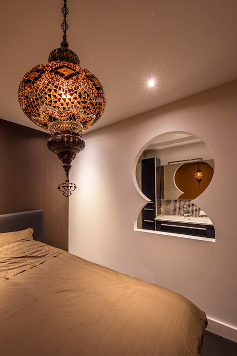 Medie Interieurarchitectuur Asian style bedroom Flax/Linen Amber/Gold
