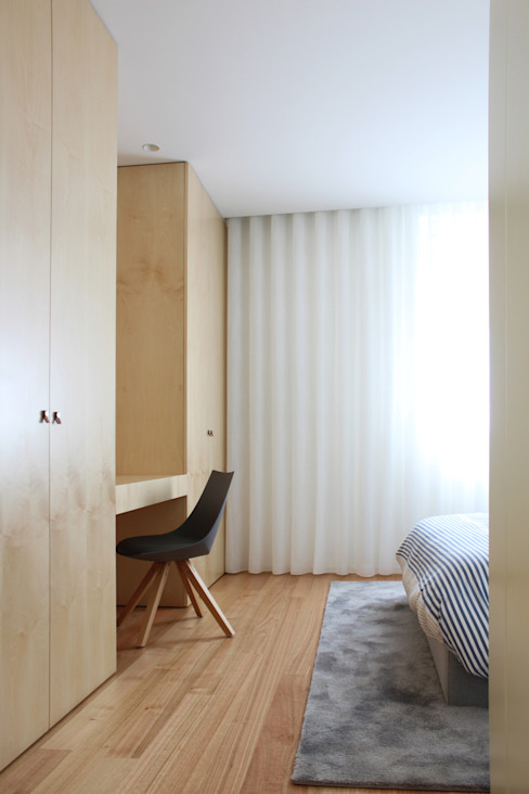 Bedroom by PFS-arquitectura, Minimalist