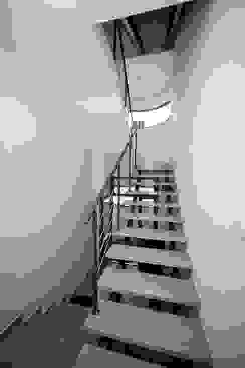 Pasillos, vestíbulos y escaleras de estilo moderno de pracownia architektoniczno-konserwatorska festgrupa Moderno
