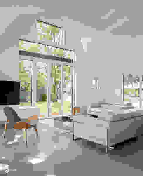 des nuages en suspensions... Salon minimaliste par Emilie Bigorne, architecte d'intérieur CFAI Minimaliste