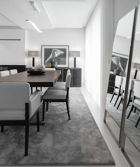 Sala da pranzo moderna di CASA MARQUES INTERIORES Moderno