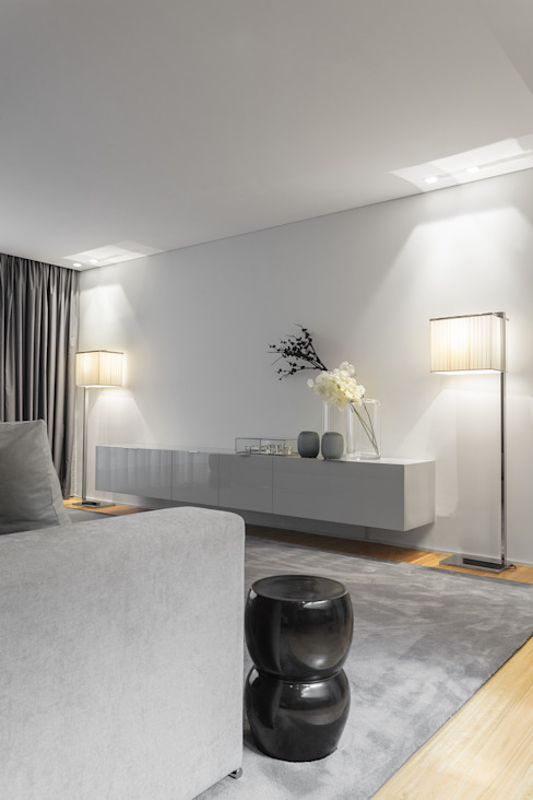 Casa em Braga CASA MARQUES INTERIORES Salas de estar modernas