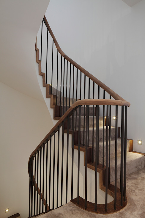 Macauley Road Townhouses, Clapham Modern corridor, hallway & stairs by Squire and Partners Modern