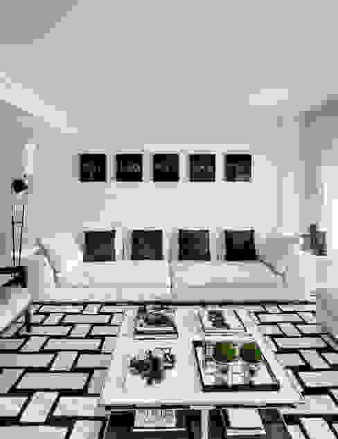 Apartamento Cascais: Salas de estar  por Silvia Costa |  Arquitectura de Interiores,