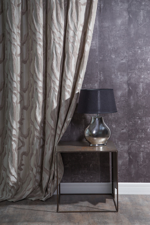 de Indes Fuggerhaus Textil GmbH Moderno Textil Ámbar/Dorado