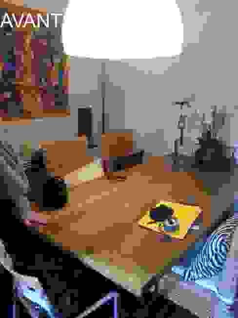 Alcôve avant travaux : deviendra séjour/salle à manger Salon colonial par Pauline VIDAL - Architecte d'Intérieur CFAI Colonial