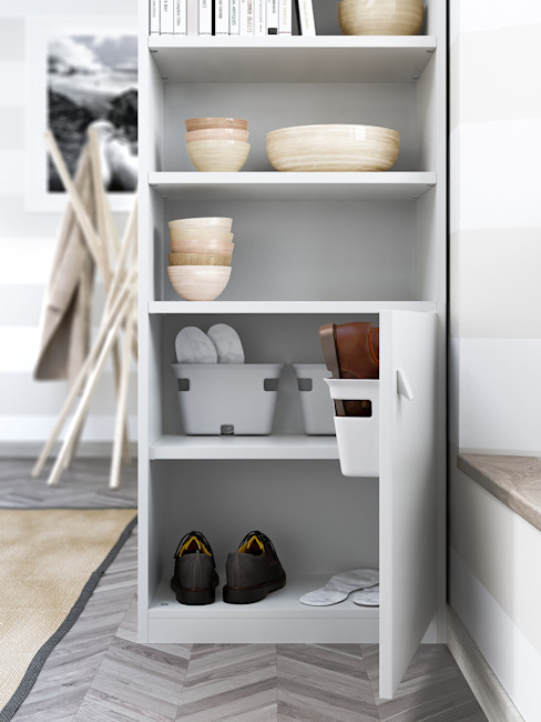 de-cube Corridor, hallway & stairsClothes hooks & stands