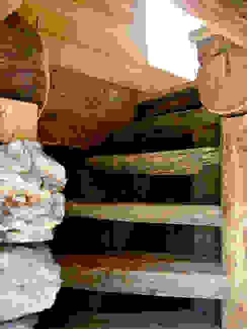Couloir, entrée, escaliers ruraux par Studio Zazzi Rural