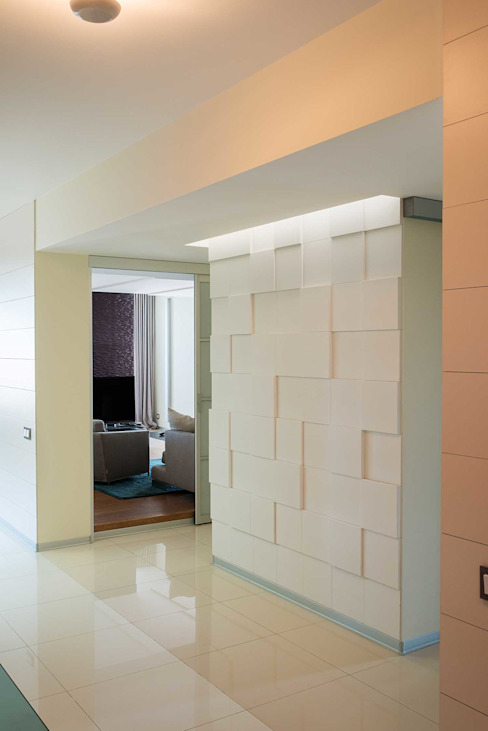 Minimalist corridor, hallway & stairs by Address Minimalist