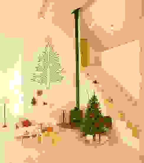 Branch Christmas tree decoration wall sticker od Vinyl Impression Nowoczesny