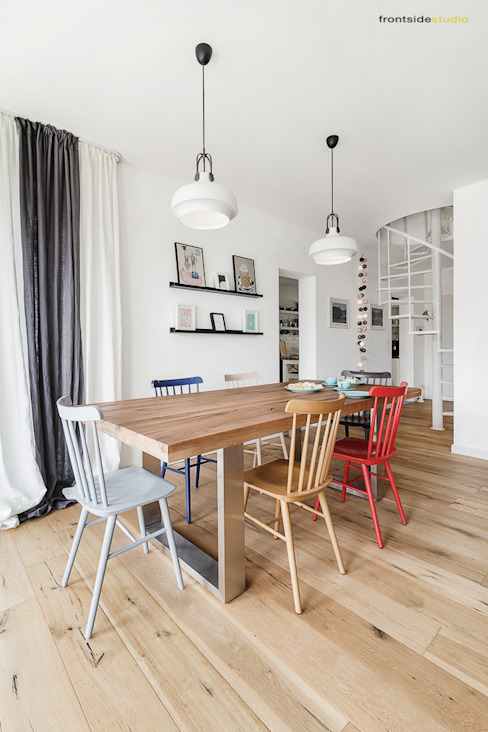 Scandinavian style dining room by PracowniaPolka Scandinavian