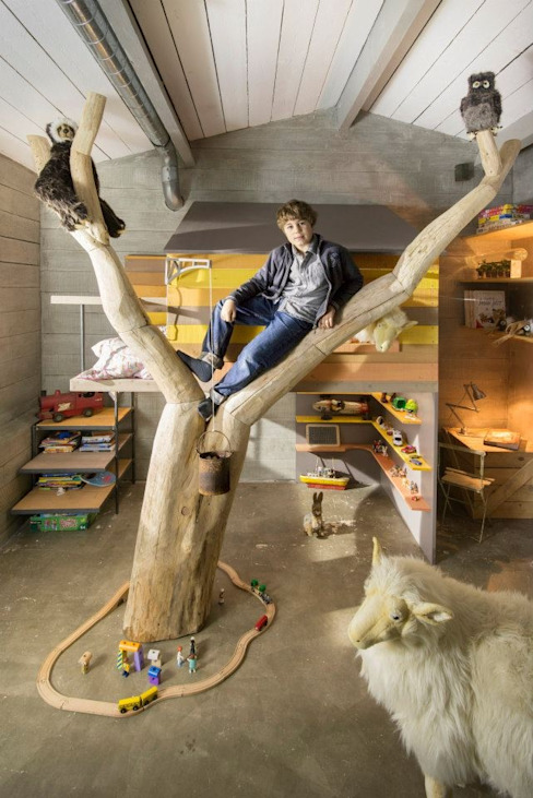 Frédéric TABARY Nursery/kid's roomBeds & cribs Wood Multicolored