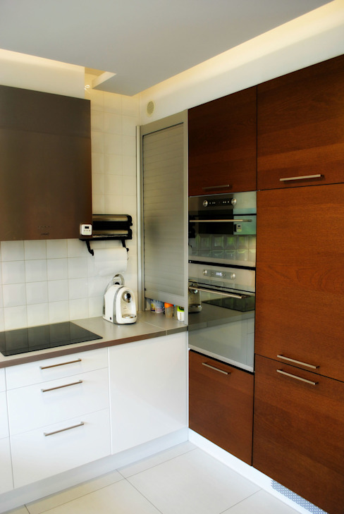 Projekt wnętrza w Łodzi: styl , w kategorii Kuchnia zaprojektowany przez Projektowanie wnętrz Berenika Szewczyk,