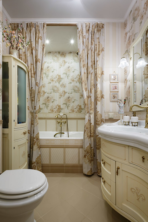 квартира на ВО, Галерный проезд д.5.: Ванные комнаты в . Автор – Valeria Ganina,