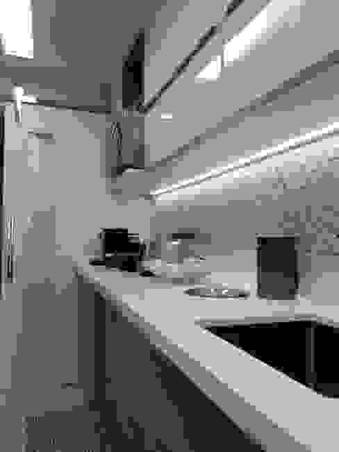 Detalhes cozinha por Lucio Nocito Arquitetura. Paredes e pisos modernos por Lucio Nocito Arquitetura e Design de Interiores Moderno