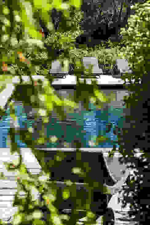 Mediterranean style pool by PASSAGE CITRON Mediterranean