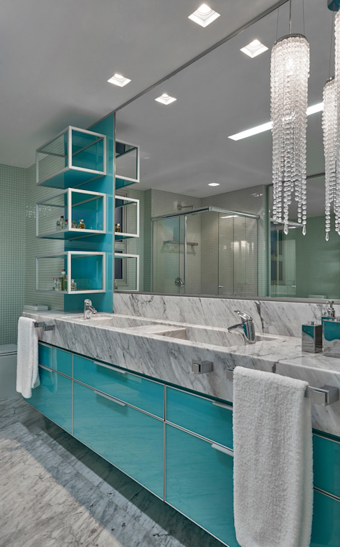 Apartamento MV: Banheiros  por Isabela Canaan Arquitetos e Associados