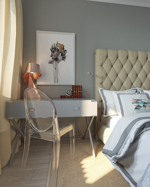 Минимализм Chambre minimaliste par Interiorbox Minimaliste