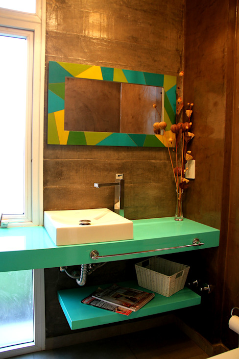 Vivienda Unifamiliar Baños modernos de AGUIRRE+VAZQUEZ Moderno