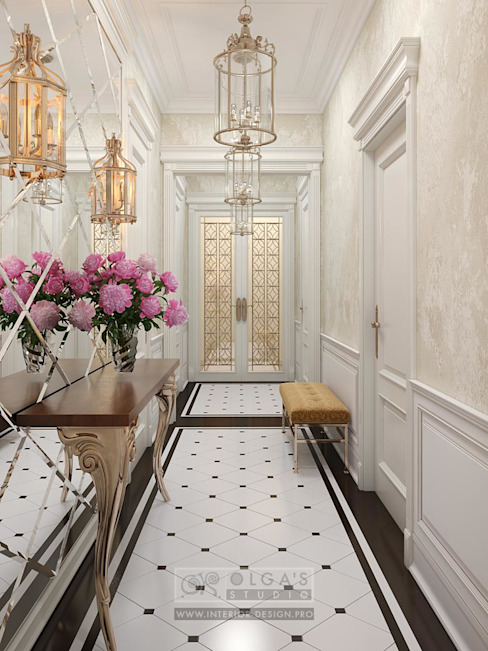 Classic style corridor, hallway and stairs by Olga's Studio Classic