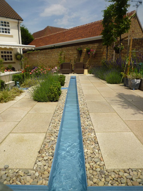 Church Mill Grange Asian style garden by Aralia Asian Slate