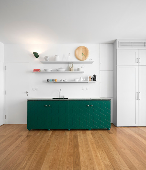 Príncipe real apartment lisbon Modern style kitchen by fala Modern