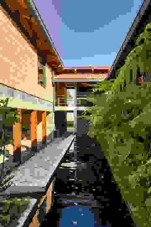 TAAR / TALLER DE ARQUITECTURA DE ALTO RENDIMIENTO Modern corridor, hallway & stairs