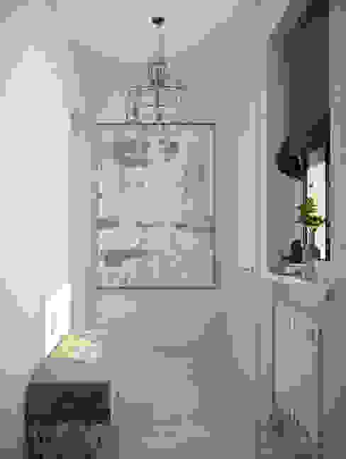 """Дизайн прихожей в современном стиле в коттеджном поселке """"Бавария"""" Коридор, прихожая и лестница в модерн стиле от Студия интерьерного дизайна happy.design Модерн"""
