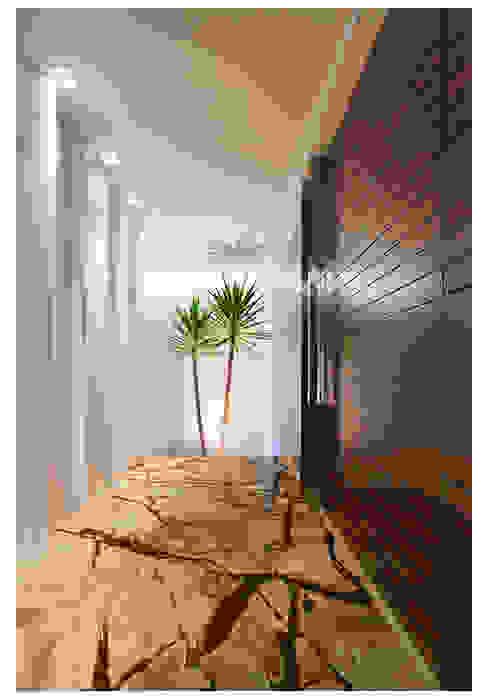 Коридор, прихожая и лестница в модерн стиле от ANDRÉ BRANDÃO + MÁRCIA VARIZO arquitetura e interiores Модерн
