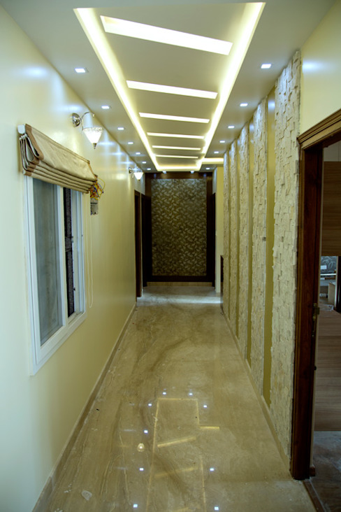 Living room passage way design Asian style living room by homify Asian