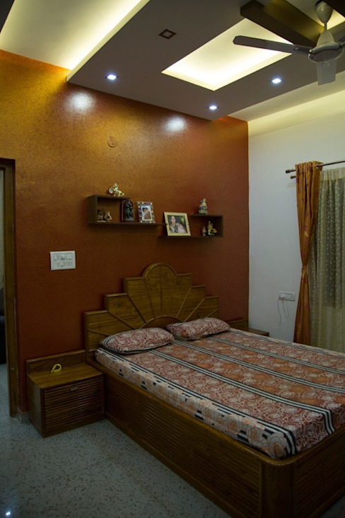 Textured wall paint in Bangalore homify Asian style bedroom
