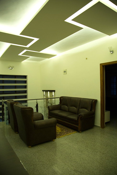 False ceiling design ideas homify Asian style corridor, hallway & stairs