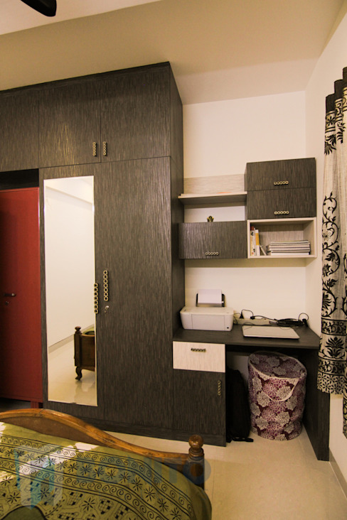Study unit design by homify Asian