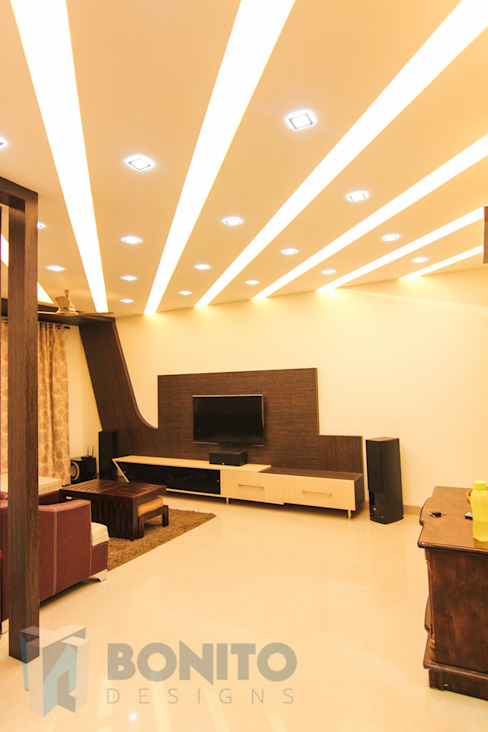 Living room false ceiling style Asian style living room by homify Asian