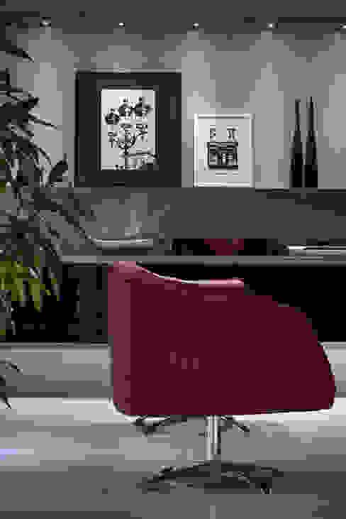 Sala Estar /Jantar Apartamento 1 por Angela Ognibeni Arquitetura e Interiores Moderno