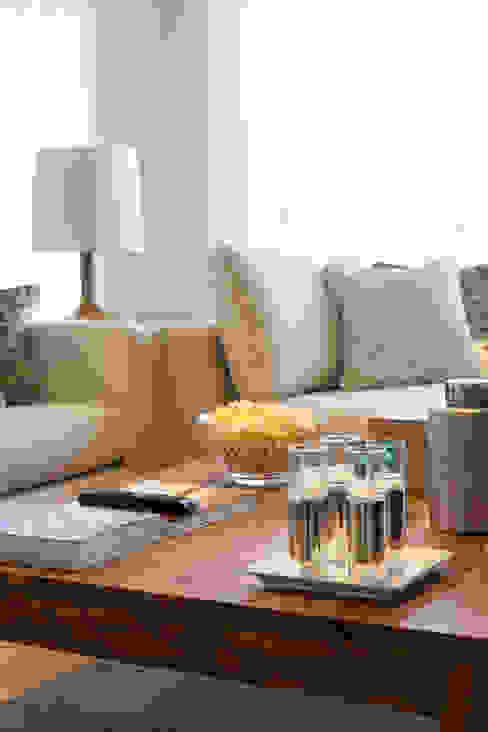 Sala Comum_pormenor da zona de estar Salas de estar modernas por Traço Magenta - Design de Interiores Moderno