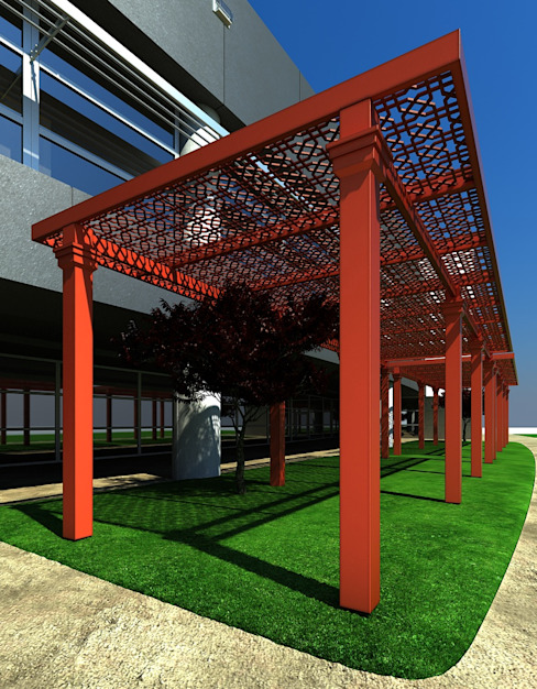 modern  by PERGOLART, Modern Wood-Plastic Composite