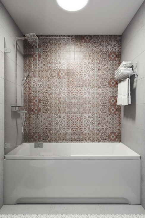 Дизайн студия Алёны Чекалиной 現代浴室設計點子、靈感&圖片
