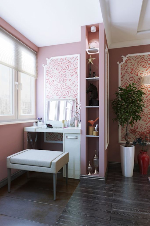 Dormitorios de estilo  por Дизайн студия Алёны Чекалиной, Moderno