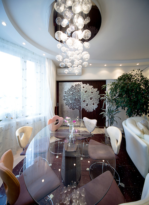 Salas de estar ecléticas por Бюро9 - Екатерина Ялалтынова Eclético