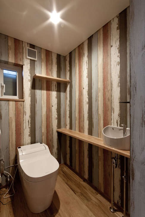 Bathroom by 有限会社 法澤建築デザイン事務所, Rustic